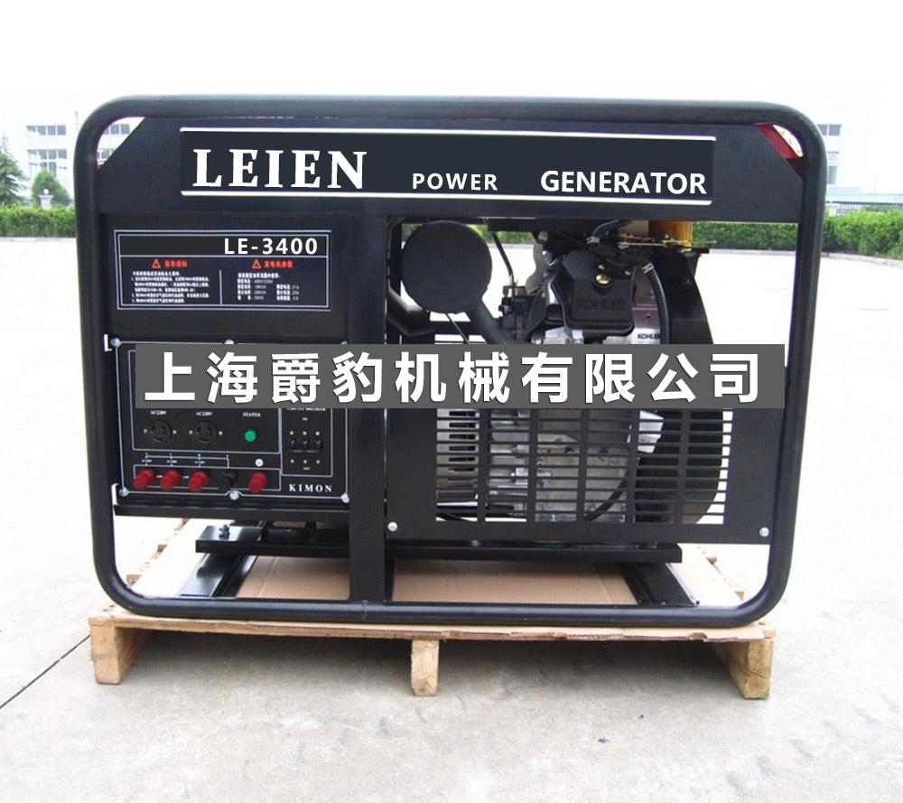 雷恩20kw开架式汽油发电机组-双缸动力电子点火